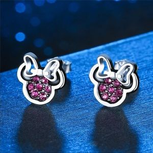 Luxury Minnie Stud Sterling Silver Earrings